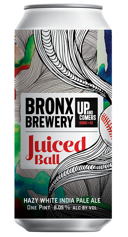 <h3>Juiced Ball</h3><span style='color: #b20751;'>Pearl-White Hazy IPA</span>