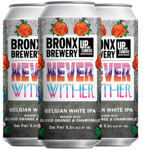 <h3>Never Wither</h3><span style='color: #e7775b;'>Belgian IPA with Blood Orange & Chamomile</span>